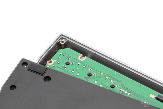 Die Oberschale besteht aus rund drei Millimeter dickem Aluminium
