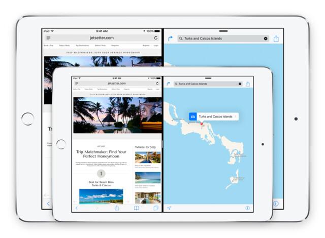 iPad Air 2 vor iPad Pro (Montage)