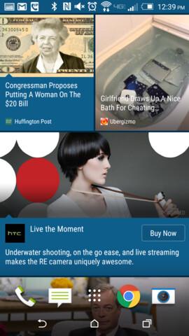 So sieht die nahtlose Integration von Werbung in BlinkFeed aus