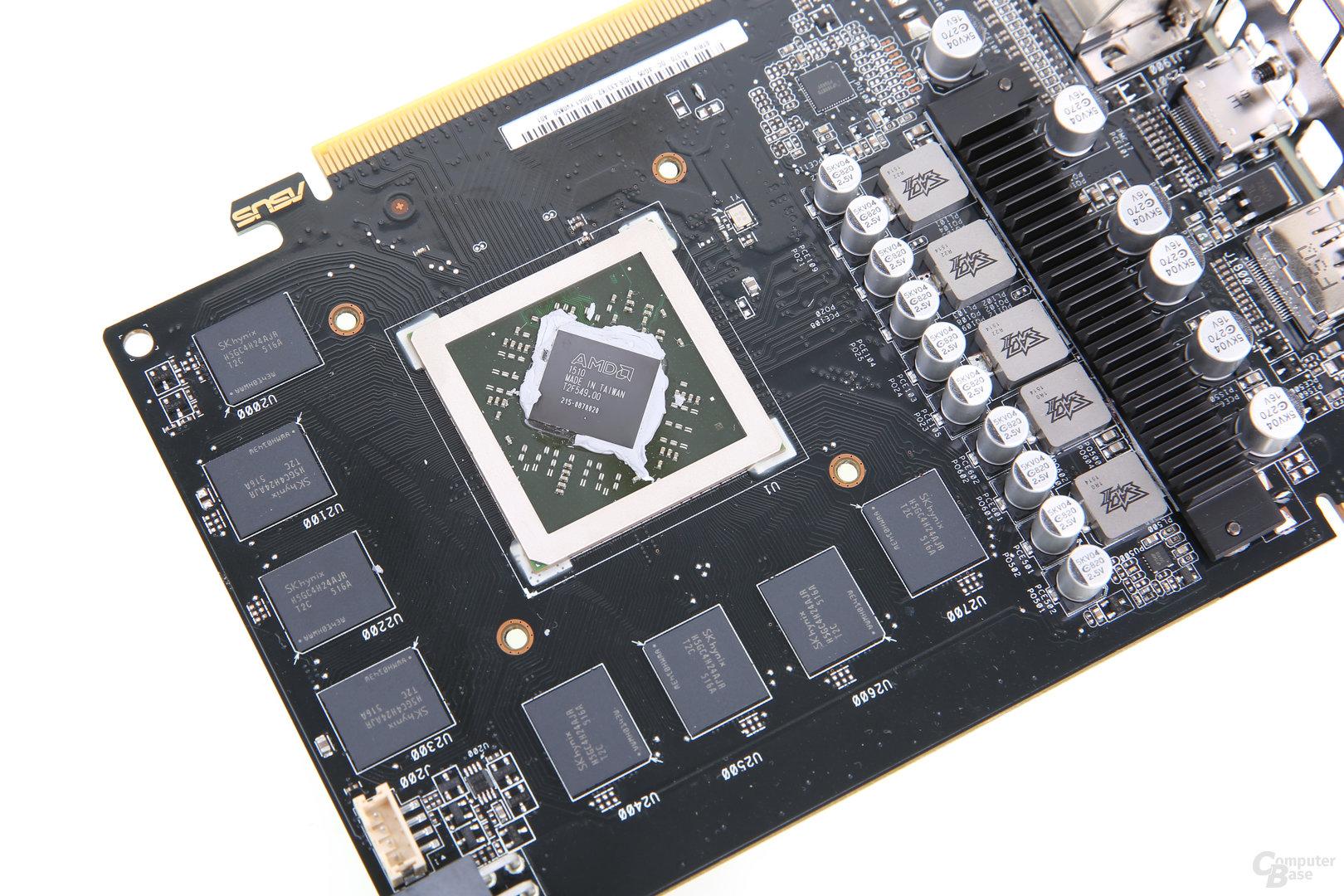 Pitcairn-GPU auf der Asus Radeon R7 370 Strix