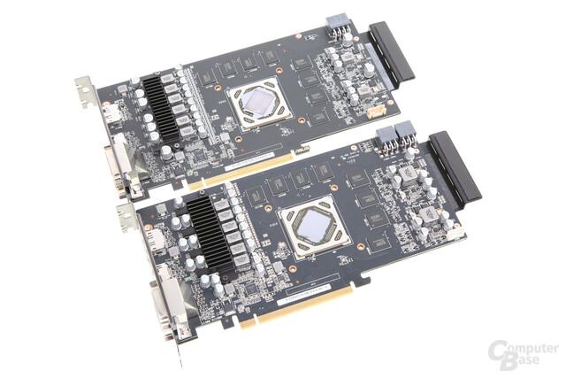 Asus Radeon R9 380 Strix (oben) und Asus Radeon R9 285 Strix (unten)