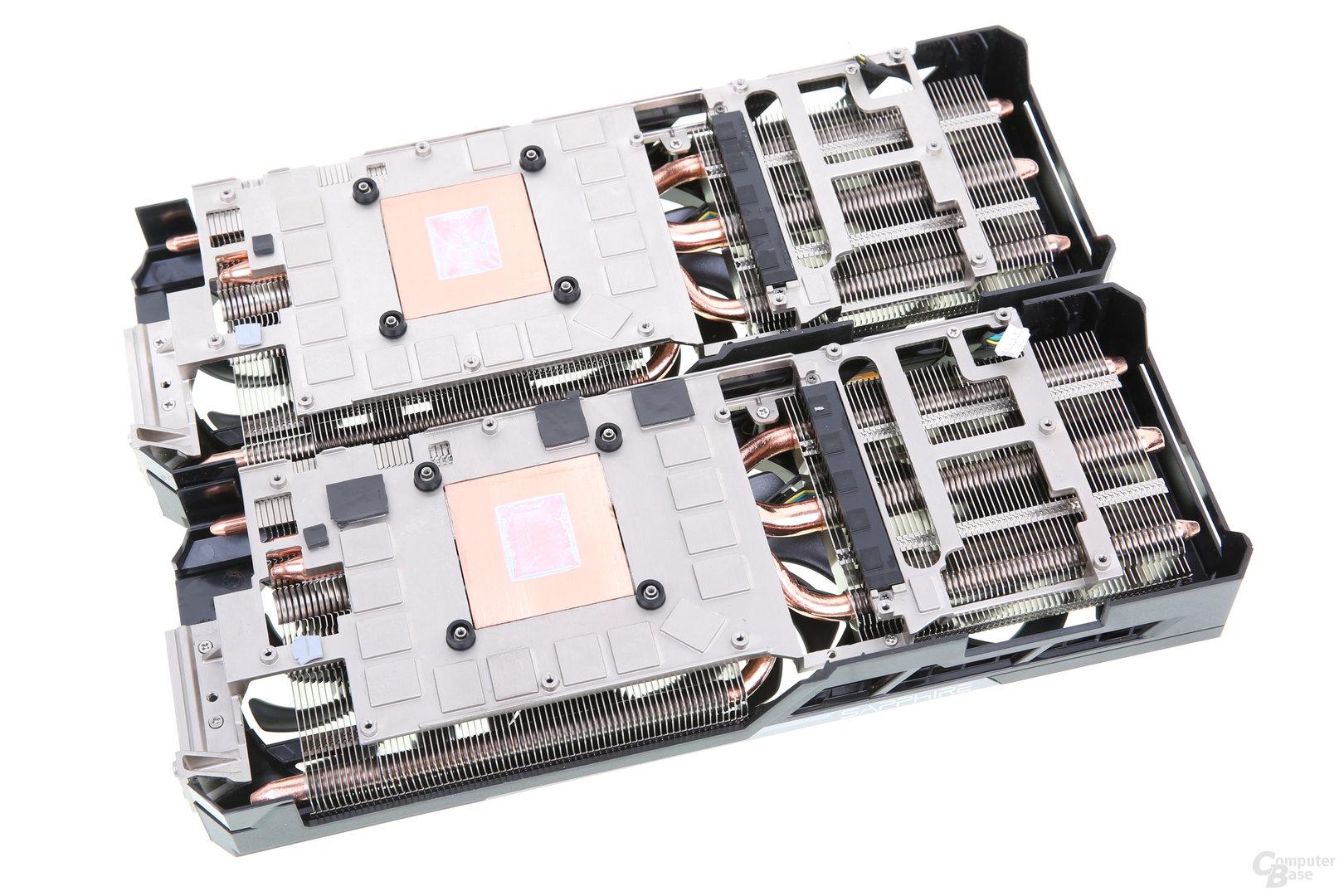 Sapphire Tri-X R9 390X (oben) und Sapphire Nitro R9 390 (unten)