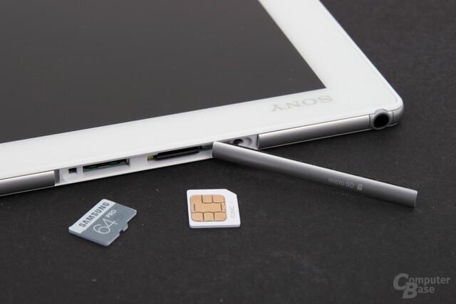 Wasserdichtes Fach für microSD und SIM