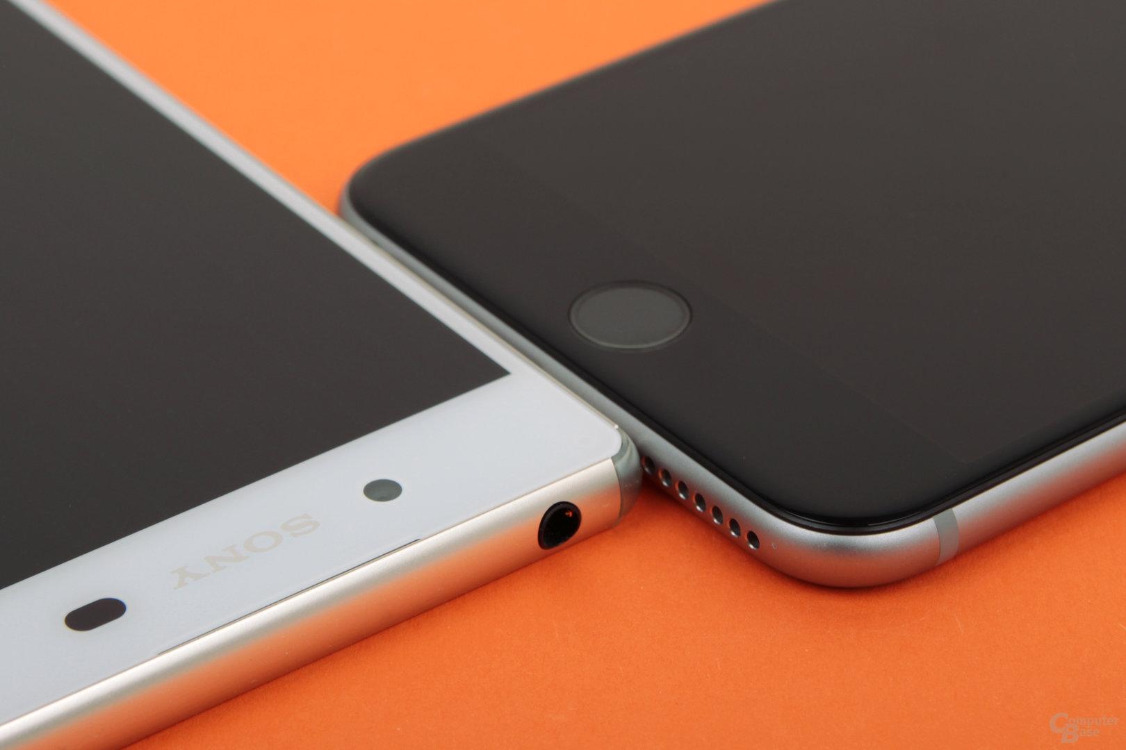 Das Z3+ ist ungefähr so tief wie das iPhone 6 Plus