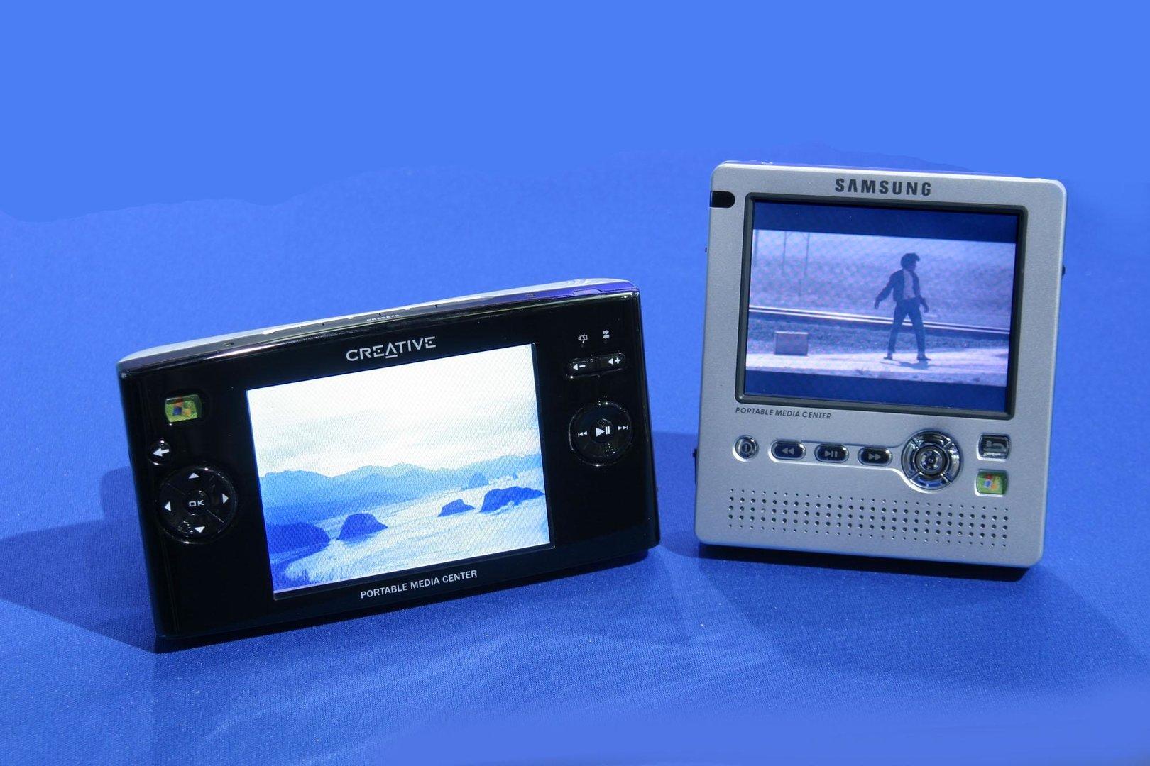 Creative und Samsung Player