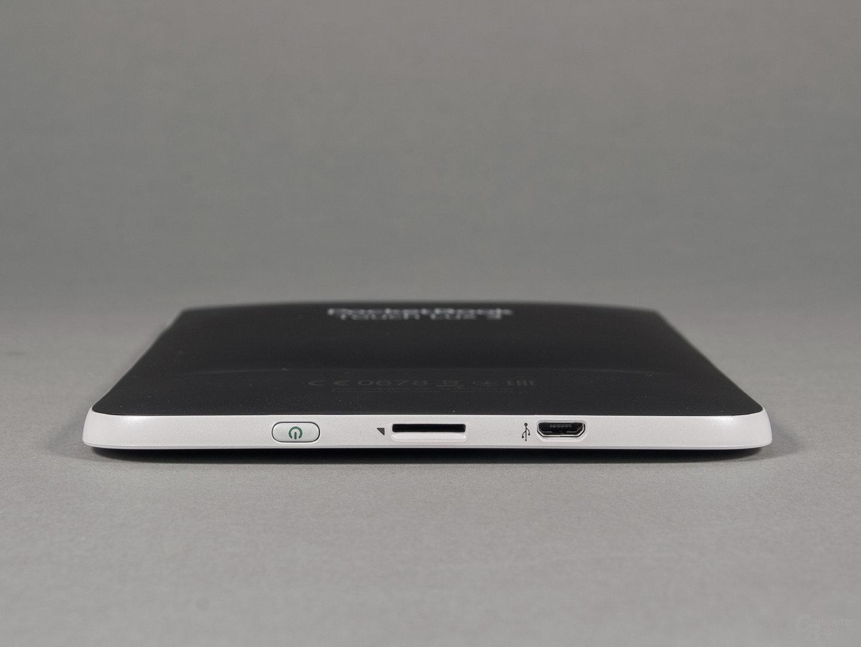PocketBook Touch Lux 3: Anschlüsse und Rückseite