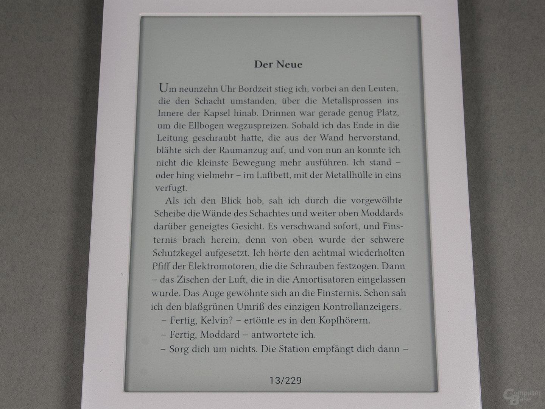 Schriftbild PocketBook Touch Lux 3