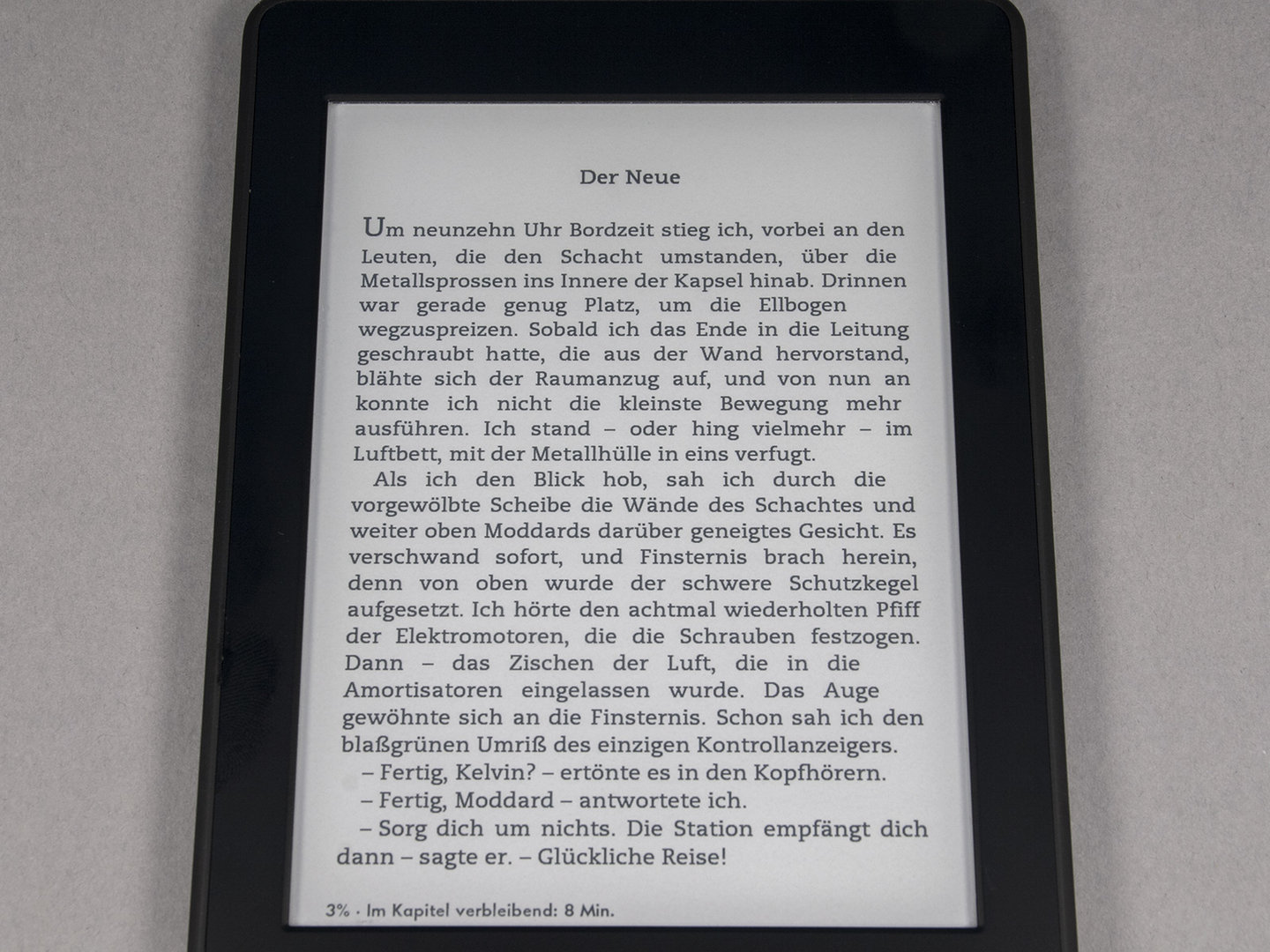 Schriftbild Amazon Kindle Paperwhite 2