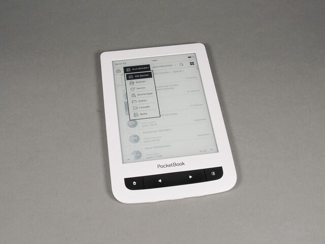 PocketBook Touch Lux 3: Filtermöglichkeiten in der Bibliothek