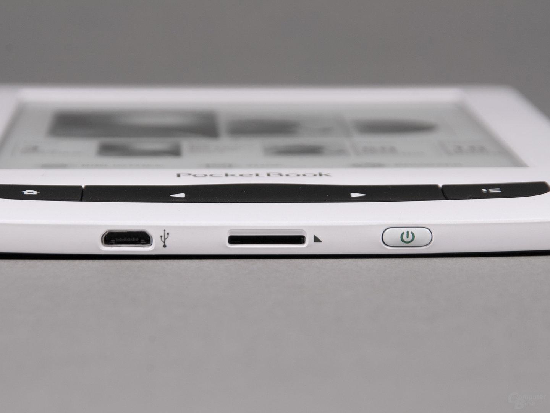 Anschlüsse beim PocketBook Touch Lux 3