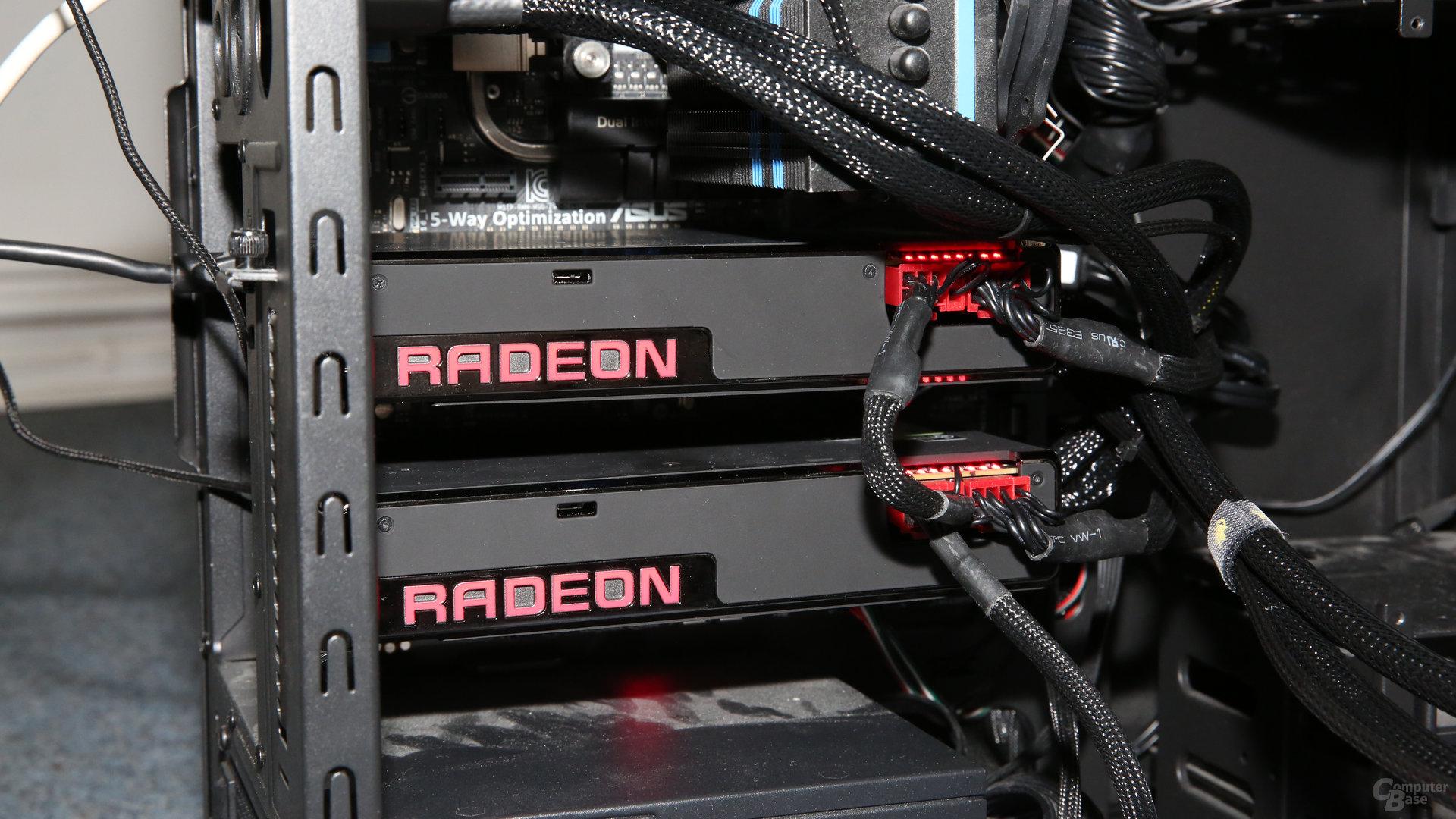 AMD Radeon R9 Fury X im CrossFire-Gespann