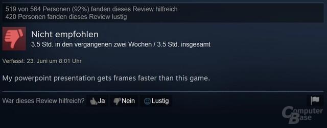 Auch auf Steam sparen Nutzer nicht mit Kritik