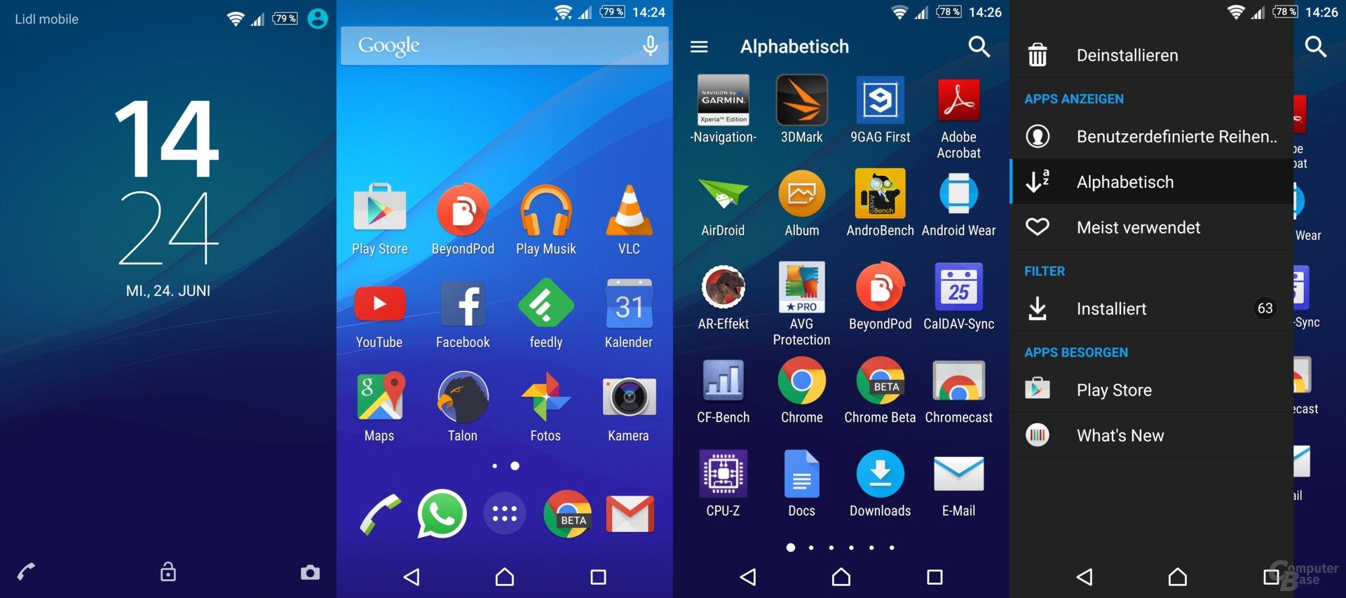 Das von Sony aufgespielte Android überzeugt durch seine wenigen Veränderungen