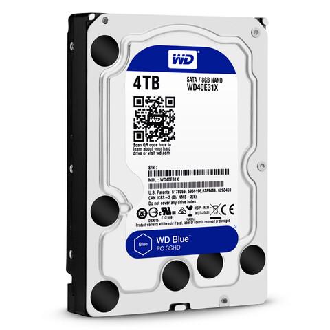 WD Blue SSHD (WD40E31X) mit 4 TB bei 3,5 Zoll