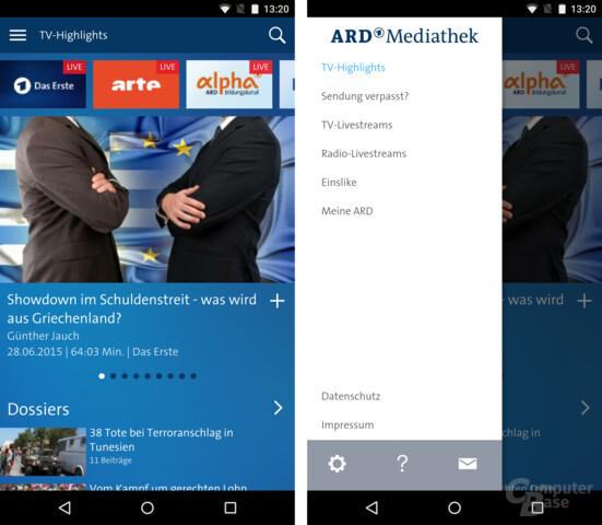 Android-App der ARD Mediathek