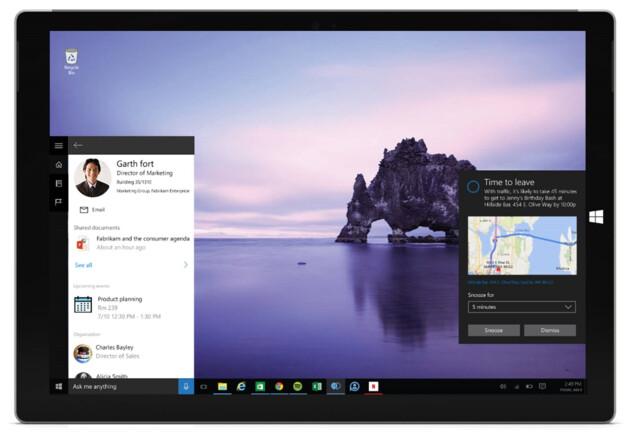 Erster Blick auf die Cortana-Integration in Office 365