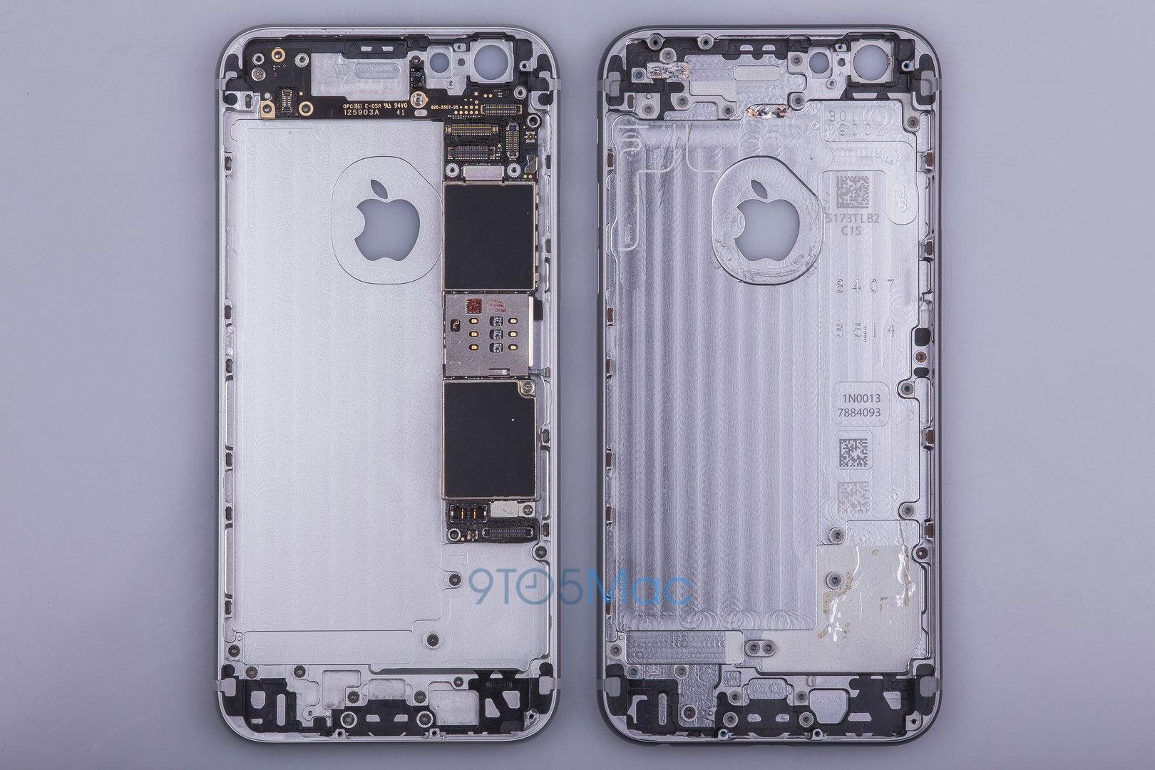 Neues iPhone (links) neben iPhone 6 (rechts)
