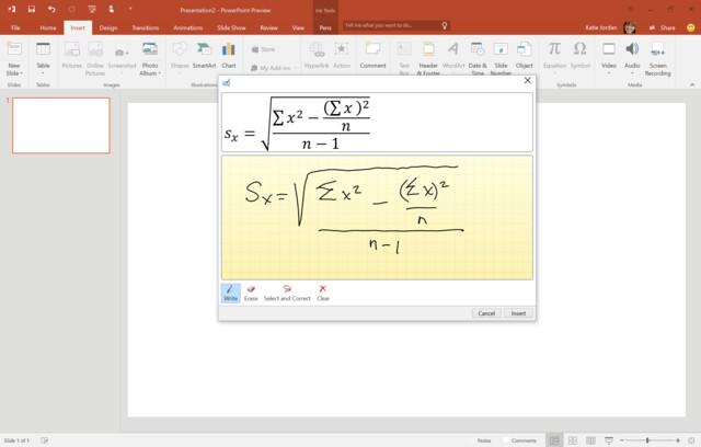 Office 2016 Preview – Handschrifterkennung für Formeln