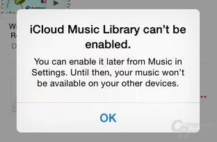 Fehlermeldung unter iOS 8.4