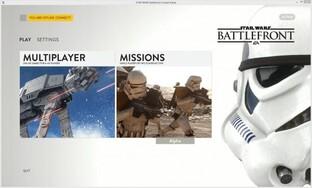 Menü der Closed Alpha von Star Wars Battlefront (PC)