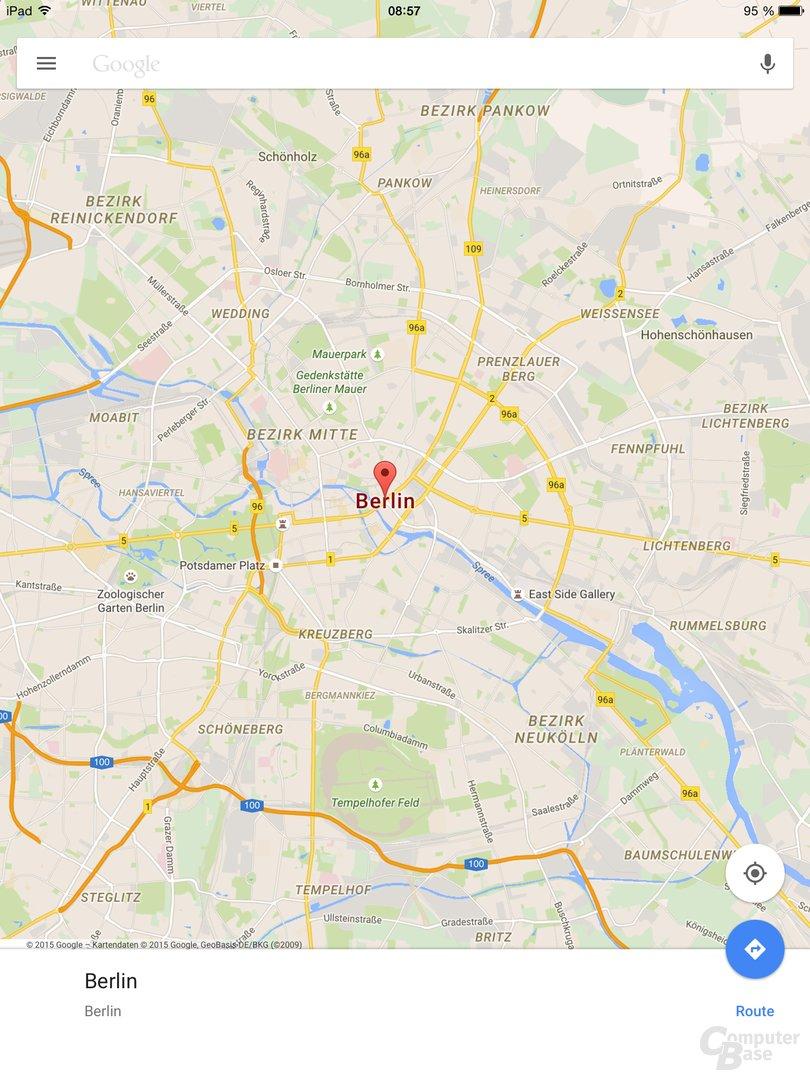 Google Maps 4.8.0 für iOS