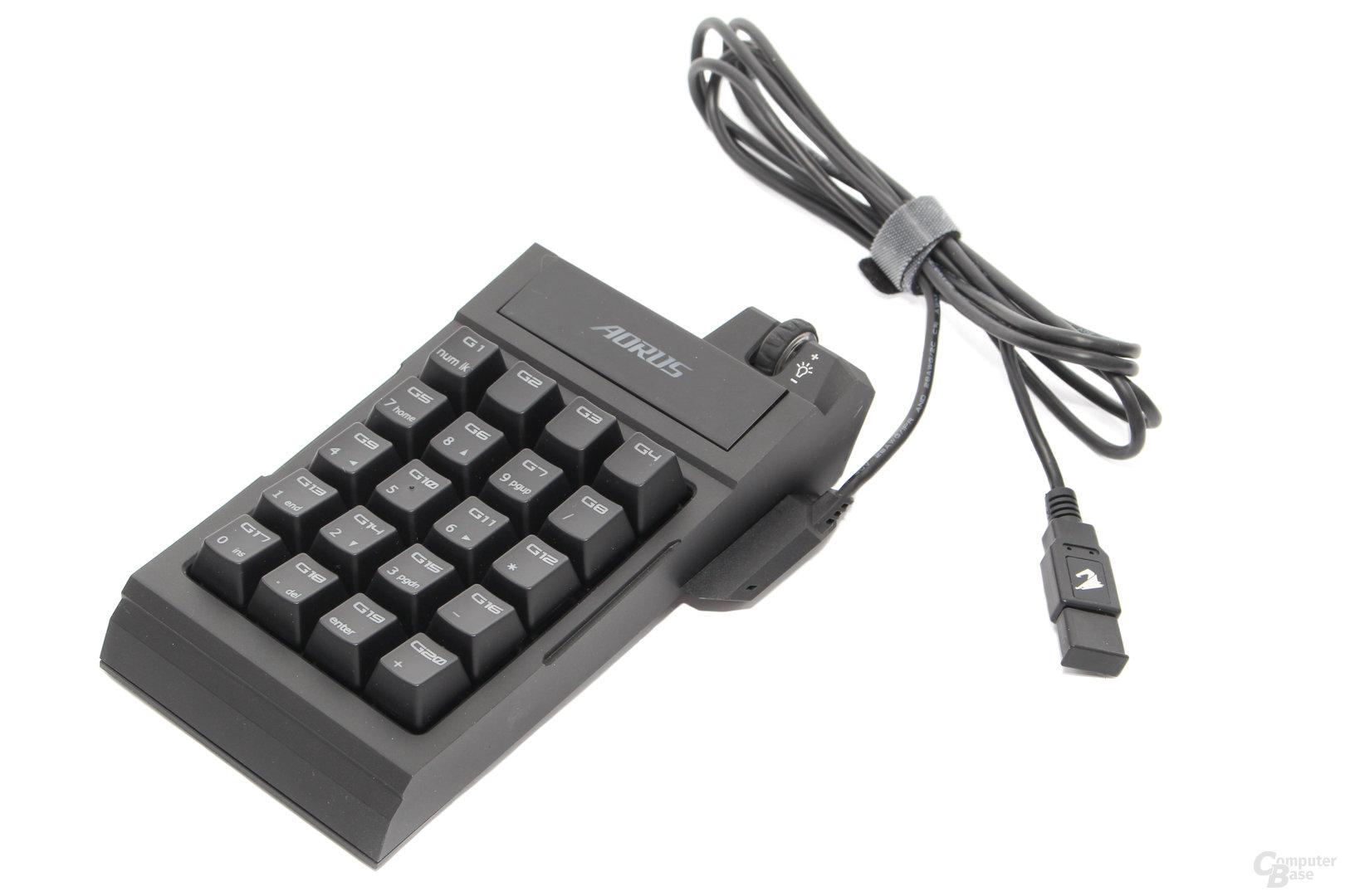Per Kabel ist der Betrieb unabhängig von der Tastatur möglich
