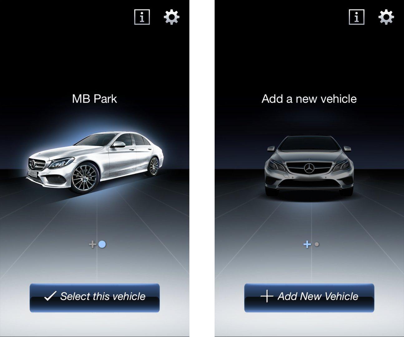Auswahl des Fahrzeugs / Neuen PKW hinzufügen