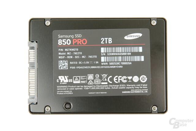 Samsung 850 Pro 2 TB im gewohnten Design