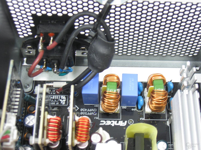 Antec VPF550 – Eingangsfilterung