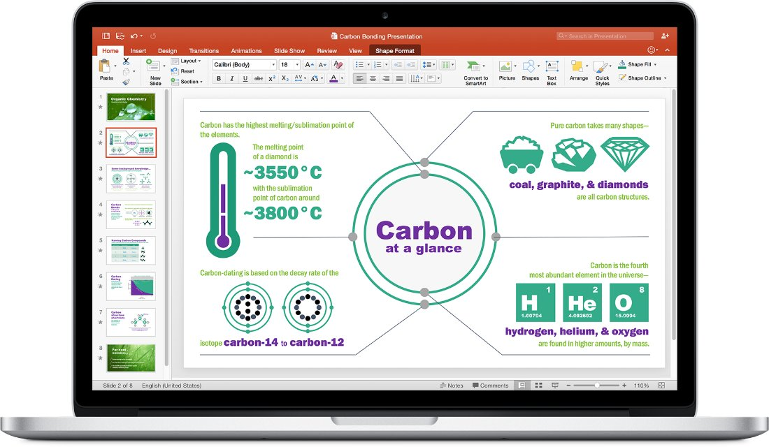 Office 2016 für Mac – PowerPoint