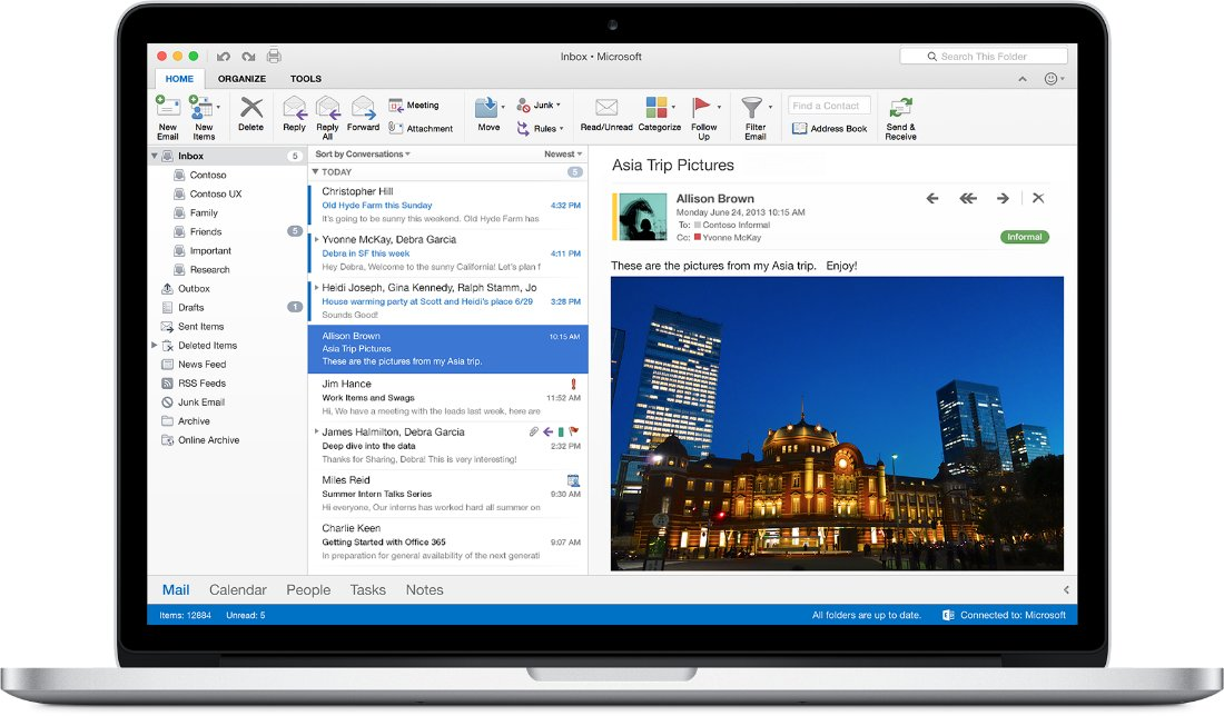 Office 2016 für Mac – Outlook