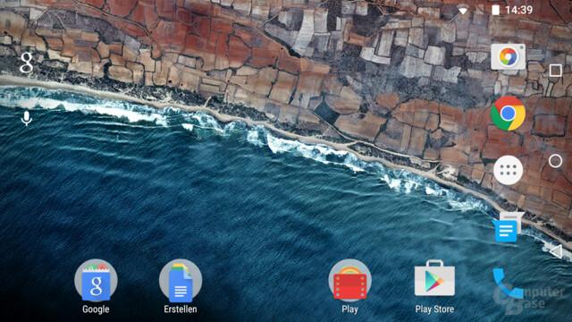 Endlich auf für Android-Smartphones: der Landscape-Modus