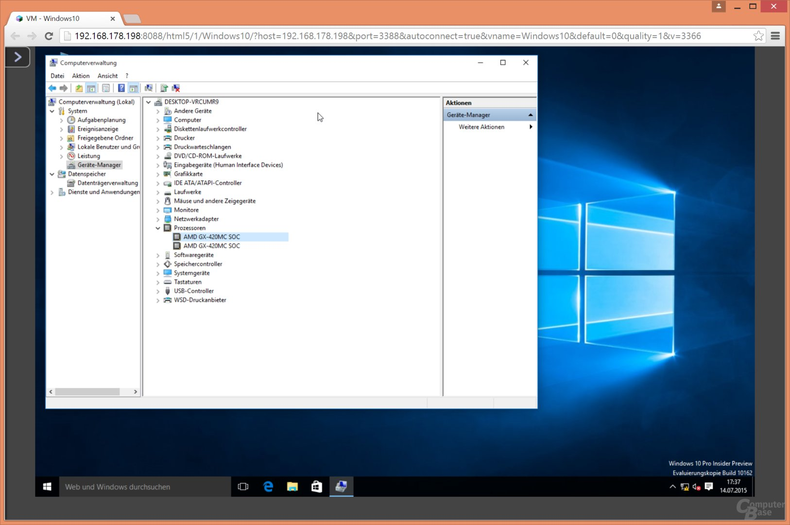 Windows 10 als VM auf der QNAP TS-563