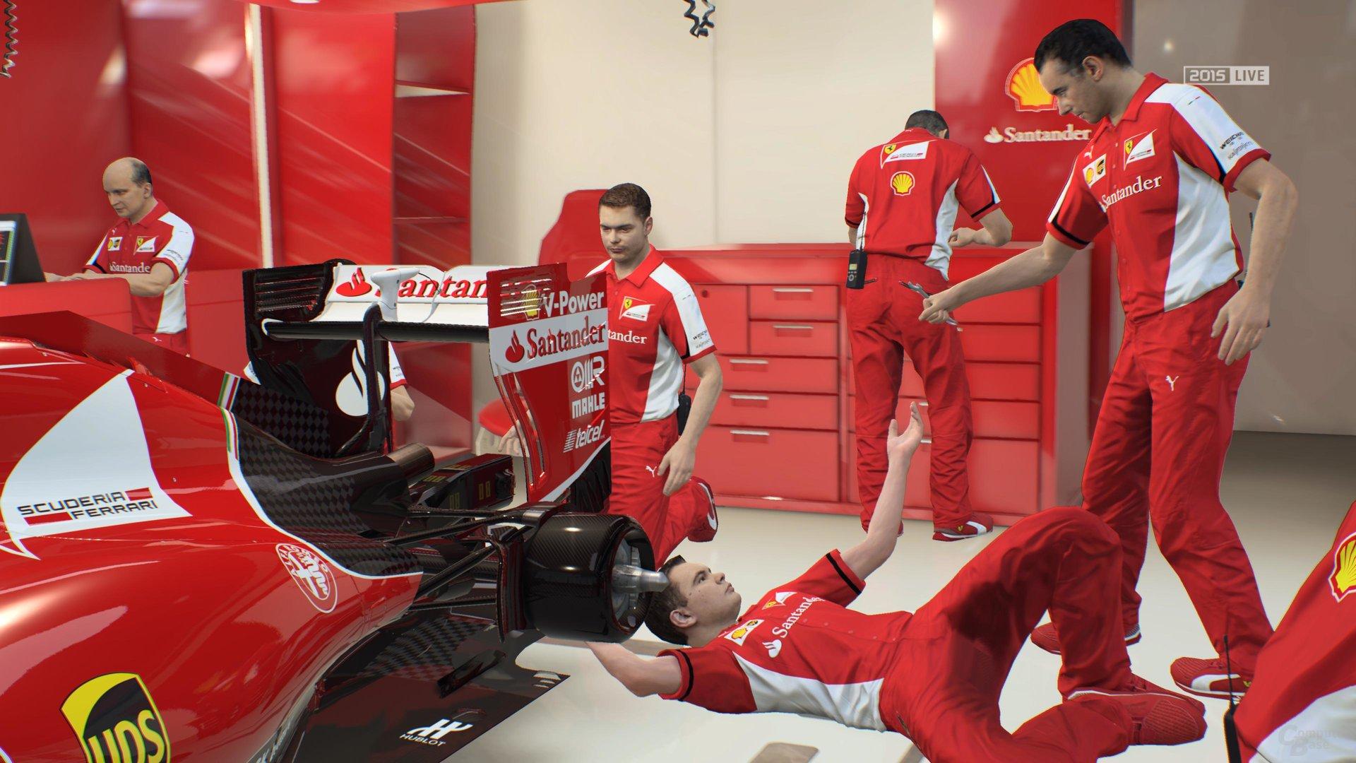 F1 2015 wagt einen zaghaften Blick hinter die Kulissen