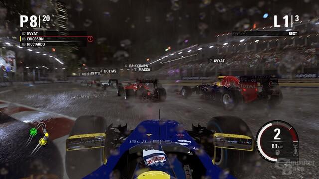 Bei Nacht und im Regen macht F1 2015 eine gute Figur
