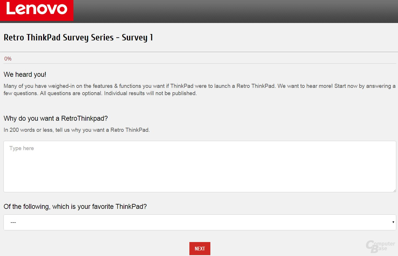Umfrage zum Retro-ThinkPad