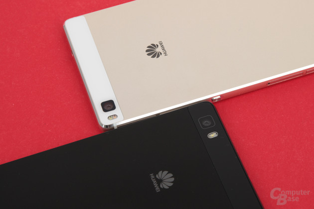 Huawei P8 Lite (unten) neben P8