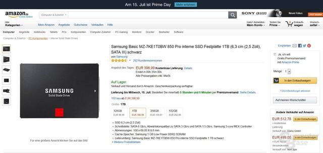Samsung SSD 850 PRO 1TB im Angebot