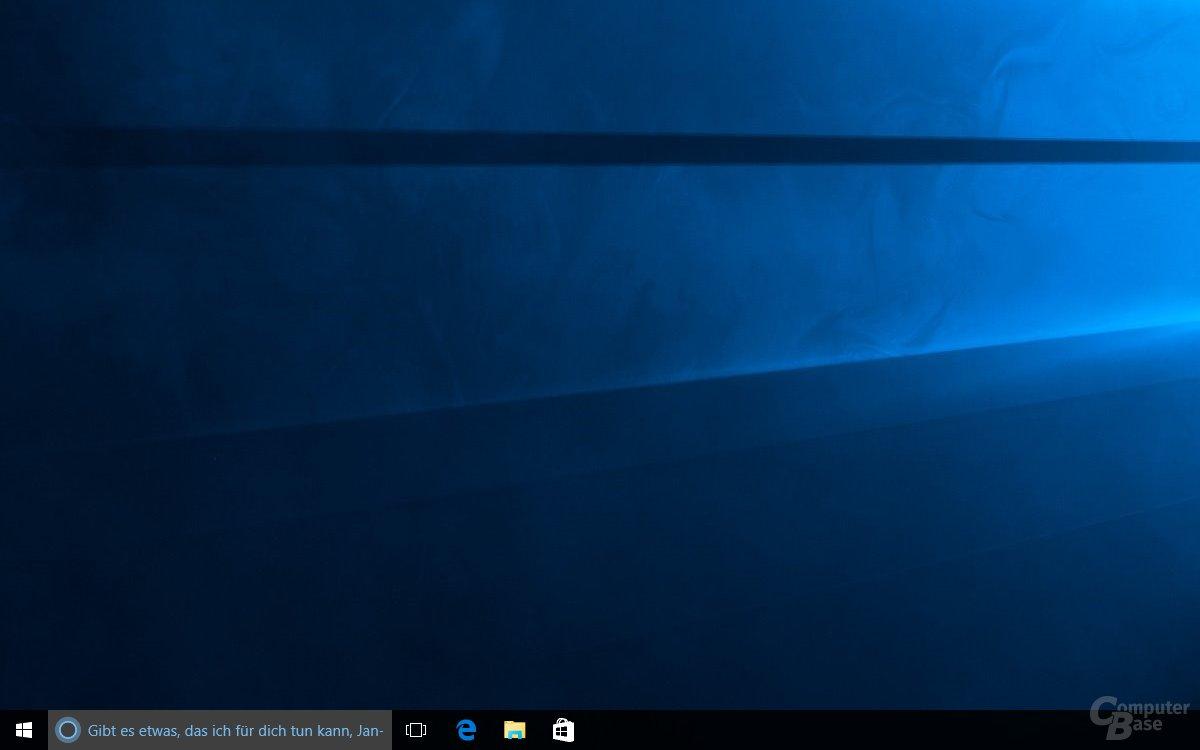 Ist Cortana aktiv, ersetzt der Assistent die klassische Suche