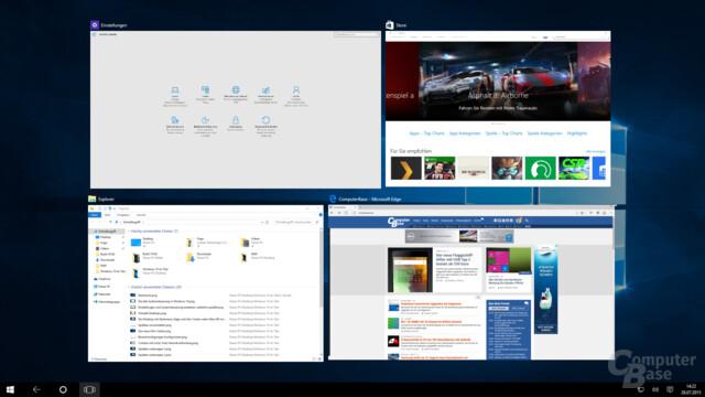 Im Tablet-Modus zeigt Taskview keine virtuellen Desktops an