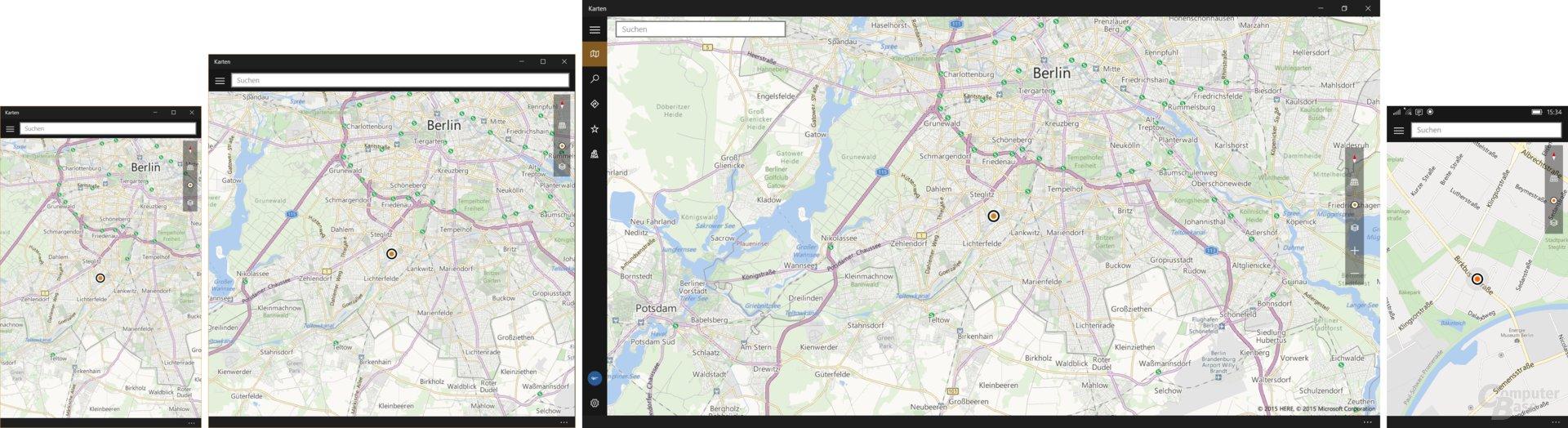 Karten Universal App