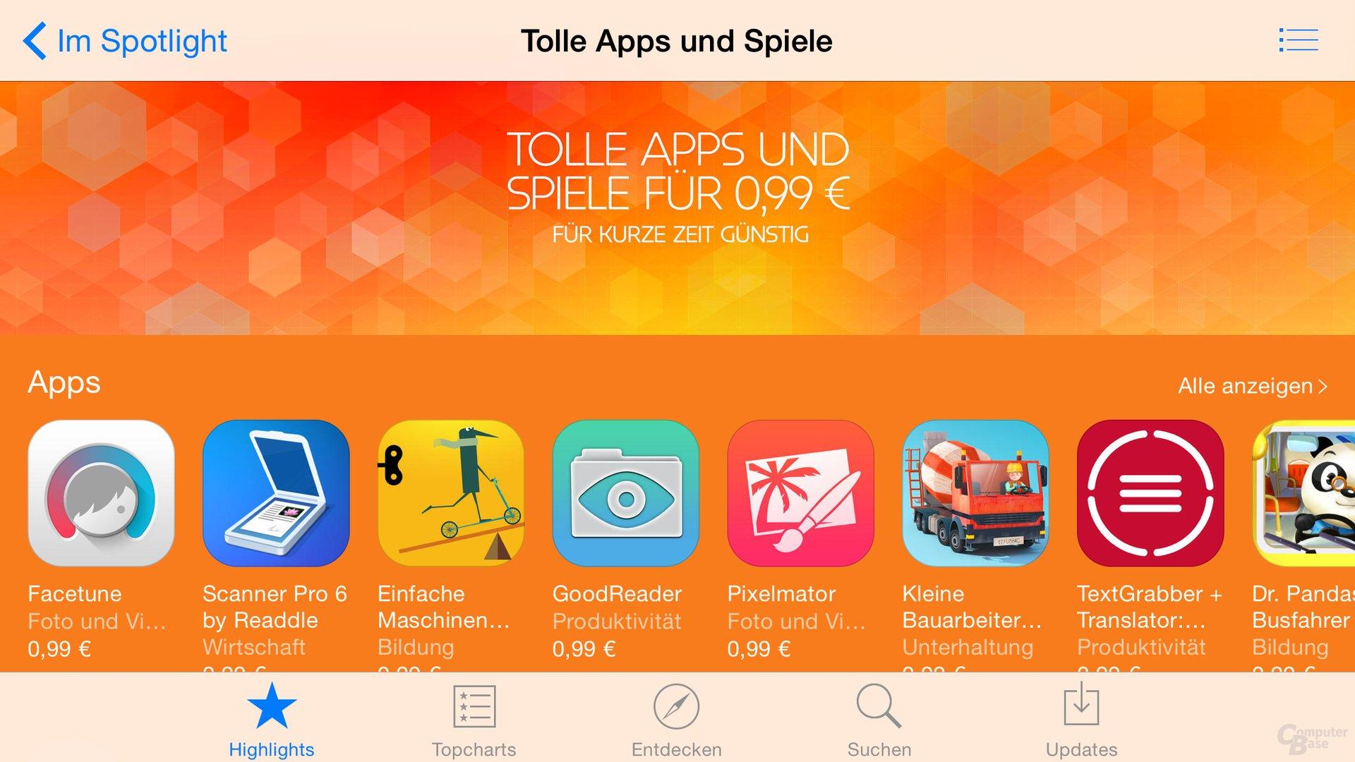 Starke Preisnachlässe im App Store