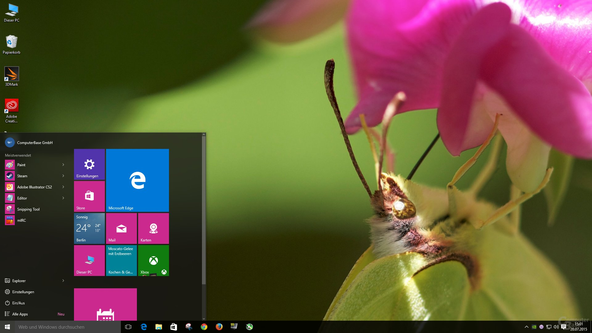 Aktuelles Startmenü in Windows 10 Build 10240