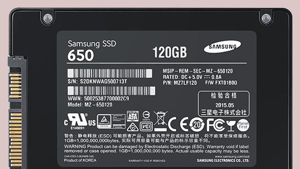 Samsung SSD 650: Einstiegs-SSD mit 120 GB 3D V-NAND und MFX-Controller