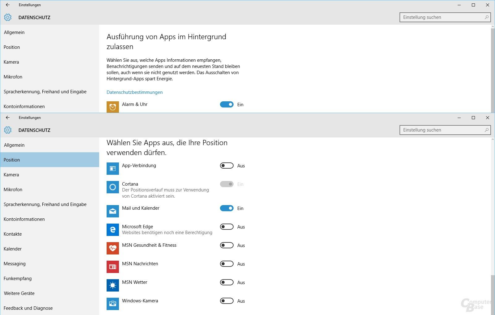 Datenschutz bei Windows 10: Ortungsdienst separat für Apps