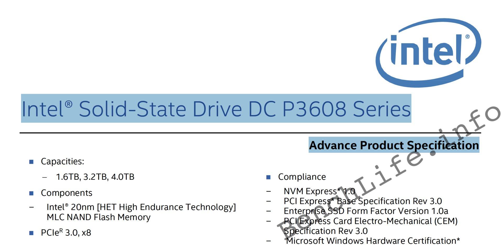 Intel SSD DC P3608