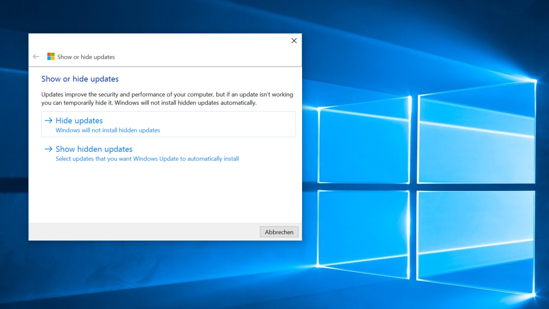 Windows 10: Fehlerhafte Updates und neue Treiber per Tool untersagen