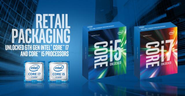 Intels Skylake-K-CPUs als Boxed-Modell