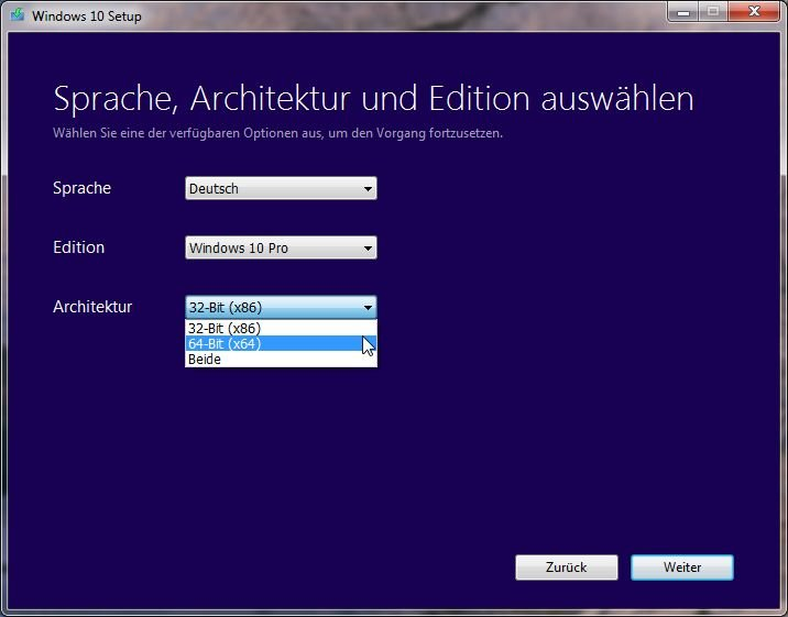 Media Creation Tool für Windows 10
