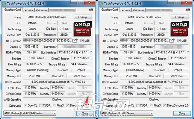 GPU-Z meldet Radeon R9 370X